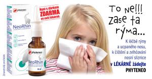 Trápí Vás rýma a ucpaný nos? Vyzkoušejte nosní spray NeoRhin Phyteneo!
