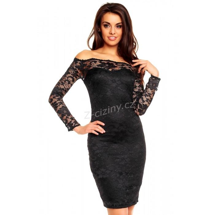 Dámské krajkové černé šaty