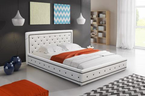 Čalouněná postel patří do moderní ložnice