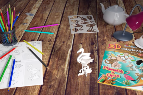Prostorové 3D omalovánky od Helma Roto