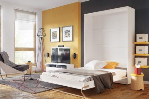 Sklápěcí postele poskytují dokonalé podmínky pro spánek v malých bytech